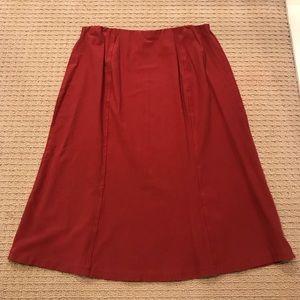 EUC! J Jill Rust A-Line Midi Stretchy Skirt